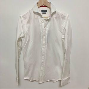 NWT Zara White Button-Down Shirt